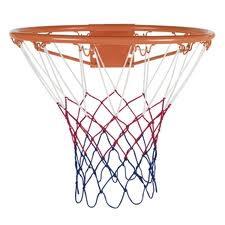 Garlando Basketball Net Rot Weiß Blau
