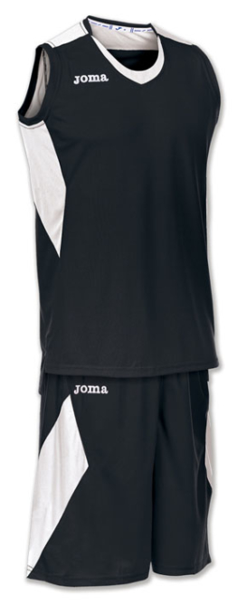 Joma Set Space Basketball Trikot-Set schwarz-weiß
